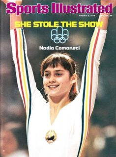 Nadia Comaneci of Romania at the 1976 Summer Olympics in Montreal. At age she scored seven perfect and won three gold medals, including the All-Around in gymnastics. I was in Montreal at the time! 1976 Olympics, Summer Olympics, Nadia Comaneci Perfect 10, Nadia Comaneci 1976, Sports Ilustrated, Si Cover, Sports Illustrated Covers, Of Montreal, Montreal Canada