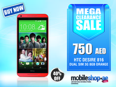 HTC Desire 816 has a Funky look that will take you to the crazy beat...  http://mobileshop.ae/htc-desire-816-dual-sim-8gb-red