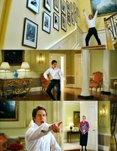 """dancing prime minister from Love Actually. """"Jump for My Love."""" This movie had so many great moments, I watch it every year around Christmas. It's good for any other time of year, though."""