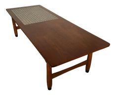 Vintage Mid Century Modern Lane Mosaic Top Coffee Table on Chairish.com