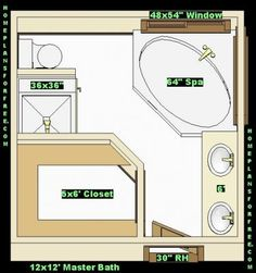 Bathroom and closet floor plans plans free 10x16 for Bathroom ideas for 5x6