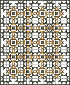 Here is a quilt top using the King David's Crown quilt block... may want to try this one day
