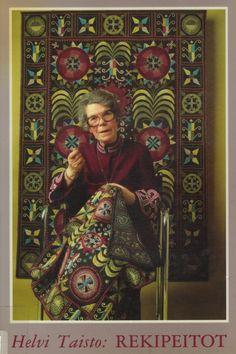 Helvi Taisto: Rekipeitot 1988, kansikuva - kirjaesittely Extempore blogissa 49er, Beaded Embroidery, Textile Art, Handicraft, Felting, Finland, Diy And Crafts, Textiles, Quilts