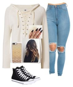 """""""Untitled #744"""" by hdflynn ❤ liked on Polyvore featuring NSF, Casetify and Converse"""