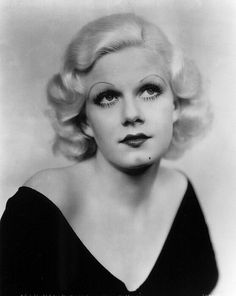 "Jean Harlow the ""Platinum Blonde""  (March 3, 1911 – June 7, 1937)  -Had two famous superstitions: She always wore a lucky ankle chain on her left leg, which is visible in some films if you look closely, and had a lucky mirror in her dressing room. She wouldn't leave the room without first looking in it.    ""Men like me because I don't wear a brassiere. Women like me because I don't look like a girl who would steal a husband. At least not for long.""-Jean Harlow"