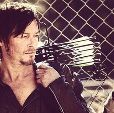 "When Daryl slings a crossbow over his shoulder, the heavens part and a blinding white light of sexual heat appears. True statement. (28 Reasons Why Daryl Dixon Is The Sexiest Man On ""Walking Dead"")"
