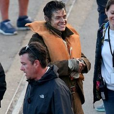 Harry on the set of Dunkirk in Dorset