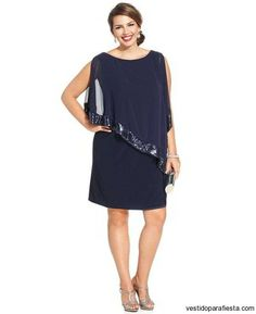 Xscape Plus Size Sequin-Trim Capelet Dress - Dresses - Plus Sizes - Macy's Review Dresses, Plus Size Dresses, Plus Size Outfits, Short Dresses, Dresses For Work, Xl Mode, Capelet Dress, Girl Fashion, Fashion Dresses