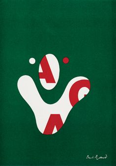 Cover for the American Institute of Graphic Arts Journal (AIGA) by Paul Rand (1968)