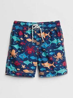 4885ddaab Gap Print Swim Trunks Baby Swimsuit, Boys Swimwear, Baby Swimming, Baby  Prints,