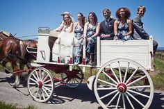 horse drawn carriage: have guests park at reception area, take them to ceremony and then back to reception in carriages