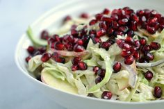 Cabbage, Apple, and Pomegranate Salad with Ginger-Almond Dressing