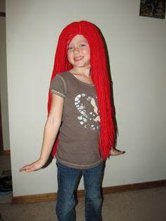 DIY Project Crazy: Ariel yarn wig DIY
