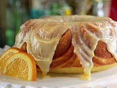 Orange Blossom Bundt Cake : Damaris drizzles her rich and elegant cake with a white chocolate ganache.
