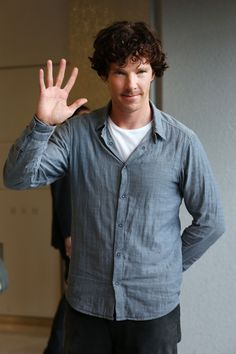 Sherlock with his stunning hair