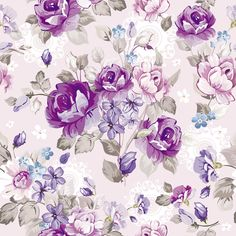 Purple floral design