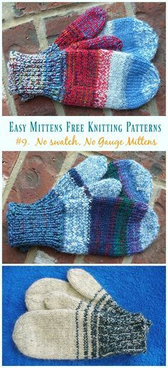 Kids No swatch, No Gauge Mittens Knitting Free Pattern - Easy Free Patterns Mittens Quick & Easy Mittens Free Knitting Patterns Crochet Mittens Free Pattern, Easy Knitting Patterns, Knit Mittens, Knitting Socks, Crochet Patterns, Mitten Gloves, Crochet Socks, Stitch Patterns, Cowl Patterns