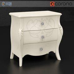 Diva bedside table  #models #3dmodeling #modeling #turbosquid #3dartist #viktor_log #design #interior