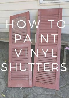 It's so easy to paint shutters! You can upgrade your curb appeal in just a few days and few dollars. This tutorial shows all the steps to paint and attach your shutters #shutters #homeimprovement #curbappeal #paint #paintshutters #DIY #DIYonabudget