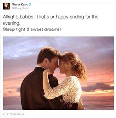 Stana our Shipperqueen ... Stana Katic Tweet