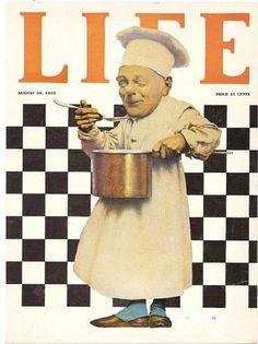 "Maxfield Parrish Original Life Magazine Cover ""The Chef with Pot"""
