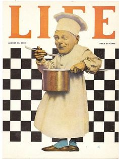 Life magazine 'The Chef with Pot' cover by Maxfield Parrish, August 30, 1923