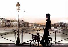 Le Pont des Arts, Paris by Sophie Griotto Illustration Parisienne, City Illustration, Illustration Fashion, Photomontage, My Little Paris, Bicycle Art, Art Graphique, Beautiful Artwork, Images