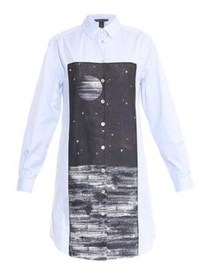 Stripe and space-print shirt tunic   Marc by Marc Jacobs   MAT...