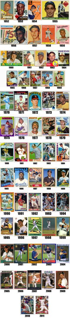 60YearsofTopps_Timeline.jpg (600×2728) Baseball Players, Sports Baseball, Baseball Games, Basketball, Baseball Classic, America's Pastime, Baseball Pictures, Reading Statistics, Football Cards