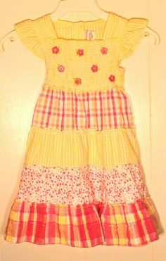 a15745246870 GIRLS YOUNGLAND DRESS - YELLOW - FLOWERS - SIZE 5 - GREAT DRESS! - EXC