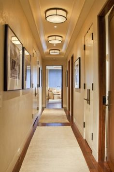 Replace your standard builders grade hallway lights with something with more personality to achieve a more custom look in your home. See more tips from SwatchPop! by clicking...