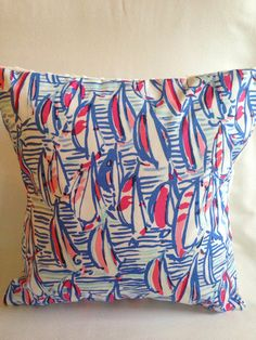 Lilly Pulitzer Pillow  Dorm Pillow  Sunroom by SweetBabyBurpies