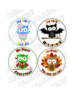 Holiday Onesie Stickers Boy Set of 12 holidays