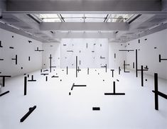 Installation artist Esther Stocker.