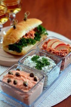 Szendvicskrém háromszor - Kifőztük, online gasztromagazin Meat Recipes, Real Food Recipes, Snack Recipes, Cooking Recipes, Yummy Food, Snacks, Cold Dishes, Hungarian Recipes, Dessert Drinks