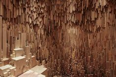 Wooden Cave Installation Featuring 10 000 Carved Tree Species  Hollow is a new installation imagined by artist Katie Paterson and architects Zeller & Moye. Studied like an immersive space this room makes you discover more than 10 000 tree and wood species that are placed like stalactites. Their wood collection spans over millions of years and comes from different countries like Japan Mexico and The USA.           #xemtvhay
