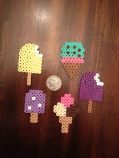 Ice Cream Perler Bead Creations by HeavensIceCrafts on Etsy