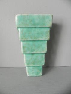 Vintage Wade Heath Wall Pocket Jade Green by TheColonies on Etsy, £40.00
