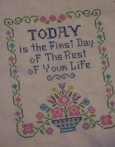 cross stitch samplers antique | Vintage Cross Stitch Linen Sampler Today is by ITSYOURCOUNTRY