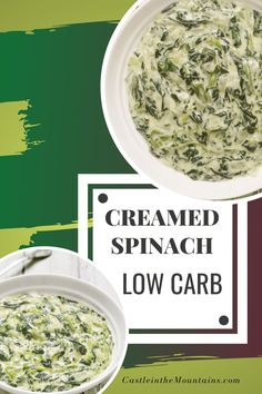 Low Carb Creamed Spinach Recipe - 10 Minute Side Dish Low Carb Creamed Spinach Recipe, Spinach Recipes, How To Dry Basil, Side Dishes, Herbs, Original Recipe, Low Carb Recipes, Good Food, Snacks