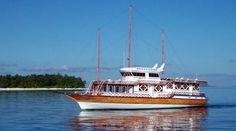 A Safari boat glides through Maldivian waters: Hulhumale Harbor hosts a large number of safaris operating in Maldives. HAVEERU FILE PHOTO.