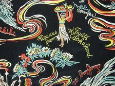 1940年代 VINTAGE ハワイ柄 POI POUNDER TOG(ハワイアン・トグス社のポイ・パウンダー・トッグ)製 レーヨンHAWAIIANシャツ サイズS MARVIN'S ヴィンテージ