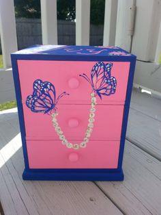 White jewelry box girls jewelry box jewelry holder flower girl