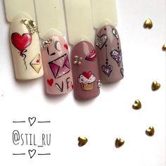 Фотография Rhinestone Nails, Bling Nails, Cool Nail Designs, Acrylic Nail Designs, Great Nails, Cute Nails, Nail Art Coeur, Vanessa Nails, Nail Art Wheel
