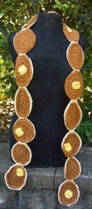 This Pancake Scarf is an awesome free crochet pattern if you love pancakes!