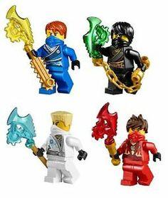 Lego Ninjago Lot Set of 4 Minifigures Jay Cole Kai Zane Techno Robe Ninjas | eBay