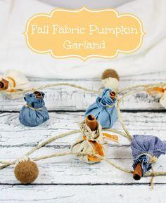 Life With 4 Boys: DIY Fall Fabric Pumpkin Garland