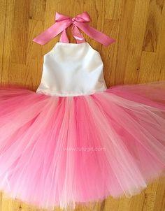 Pink Flower Girl Dress - tutu style