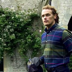 Sam Heughan still shots from the Barbour UK video