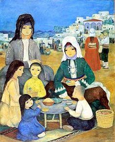 Turgut Zaim (Turkish, 1906-1974) - Yayladaki Yörükler (Nomads in the Highlands), 1962